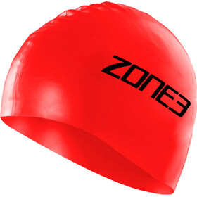 Zone3 Silicone Swim Cap, red